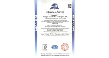 Rewarded ISO9001 Cerificate